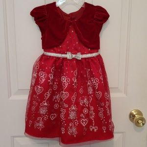 Jona Michelle Red Holiday Dress 4T